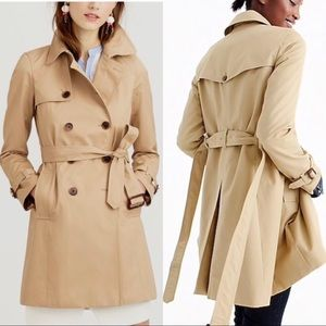 J. Crew Collection Icon Trench Coat Tan Belted 00
